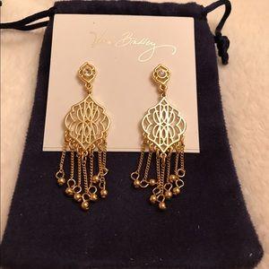 NWT Vera Bradley Gold Chandelier Earrings